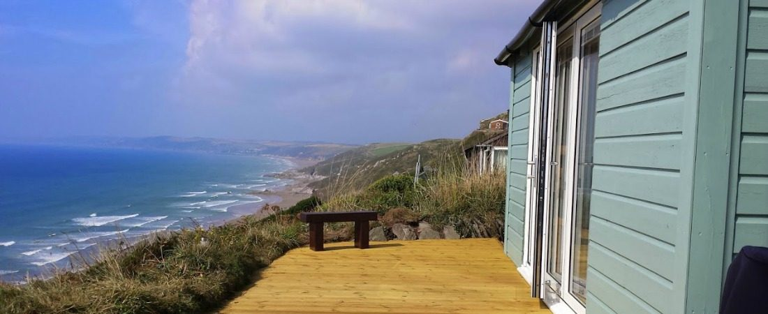 Whitsand Bay Chalet Decking View